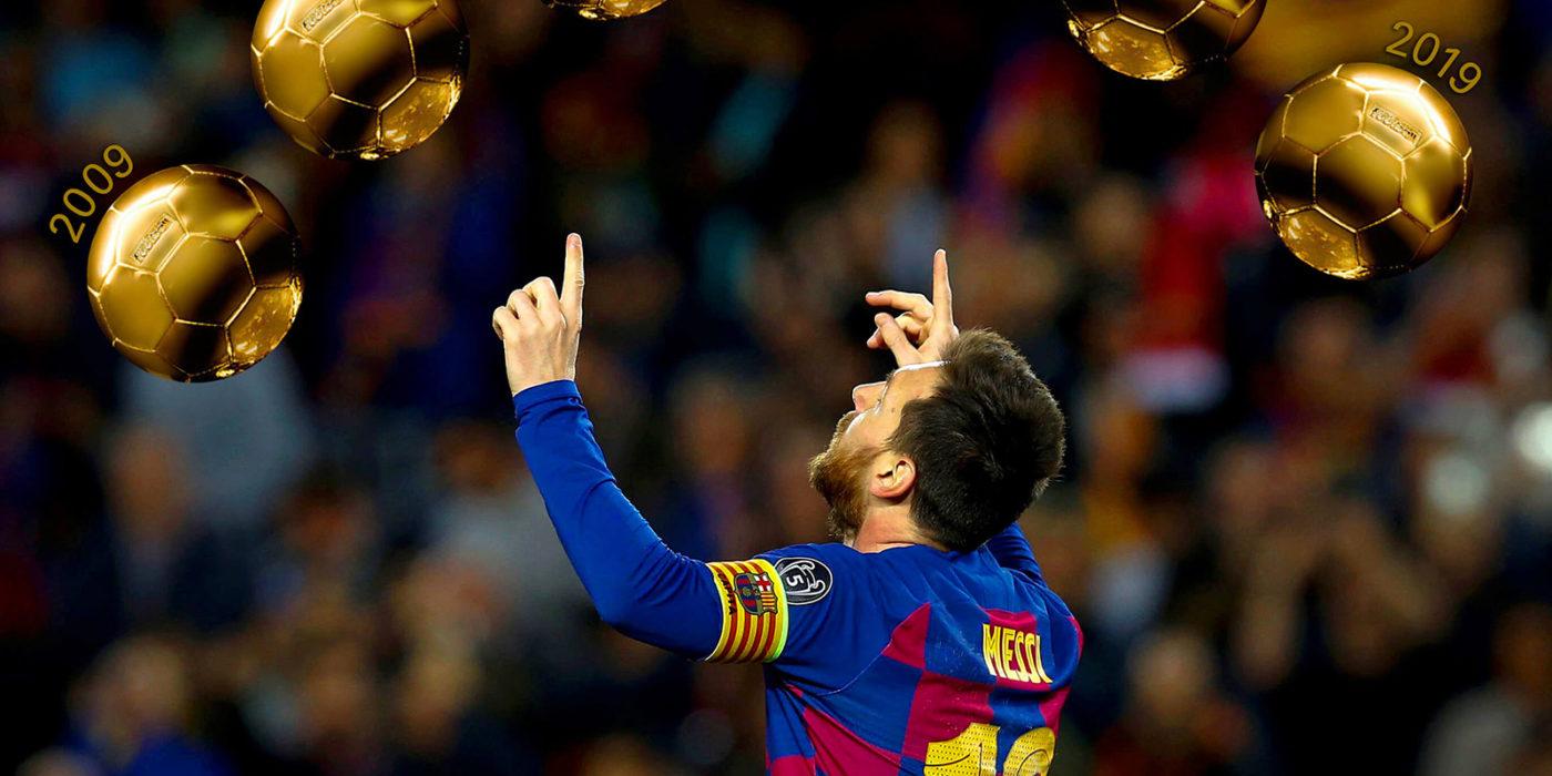 6 Balones de Oro de Messi